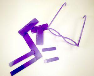 """Material para la aplicación de la técnica """"Gafas Violeta"""""""
